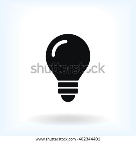 Bulb Icon, bulb icon flat, bulb icon picture, bulb icon vector, bulb icon EPS10, bulb icon graphic, bulb icon object, bulb icon JPEG, bulb icon picture, bulb icon image, bulb icon drawing - stock vector