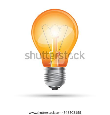 Bulb icon. Light icon. Bulb logo. - stock vector