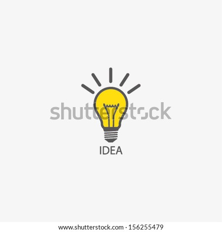 BULB ICON WITH IDEA CONCEPT - stock vector