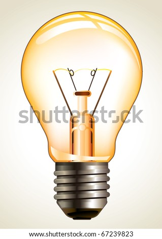 Bulb isolated on white. Vector illustration. - stock vector