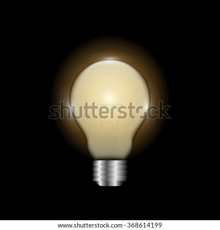 Bulb lamp isolated. Glowing glass lamp with shine color. Lamp silhouette, lamp isolated, lamp bulb, lamp icon. Creative idea, concept, brainstorm. Lamp bulb icon - stock vector