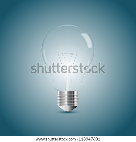 Bulb lamp realistic illustration - stock vector