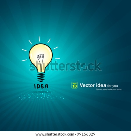 Bulb light idea background. vector illustration - stock vector