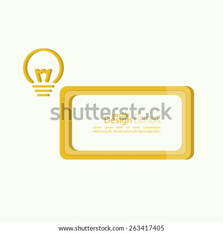 Bulb light idea. concept of big ideas inspiration innovation, invention, effective thinking. text. Speech Bubbles and Chat symbol. banner - stock vector