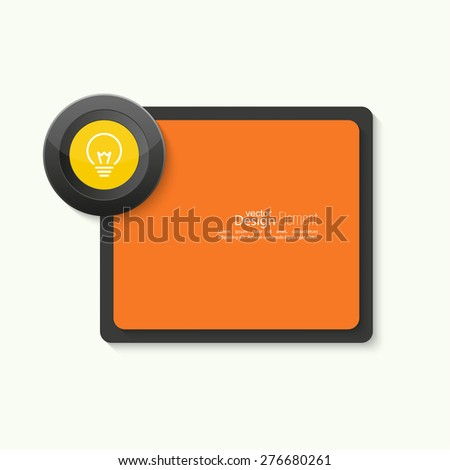 Bulb light idea. concept of big ideas inspiration innovation, invention, effective thinking. text. Speech Bubbles and Chat symbol. banner button - stock vector