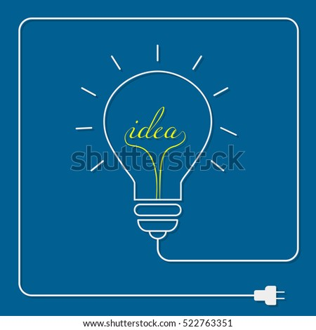 Bulb light idea on blue background .the concept is big ideas inspiration ,vector design