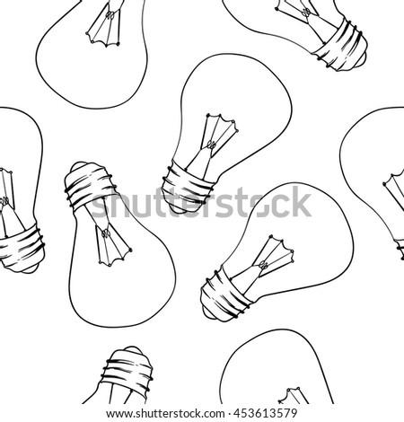 Bulb seamless pattern  - stock vector