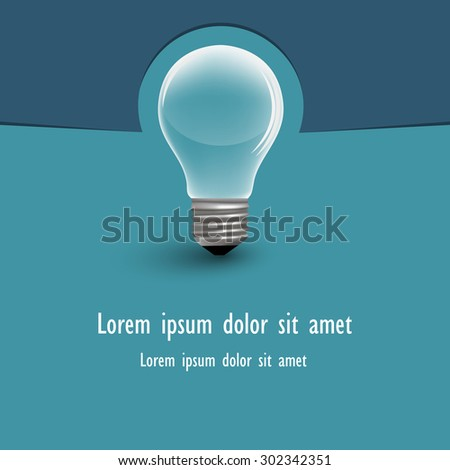 Bulb with space for text