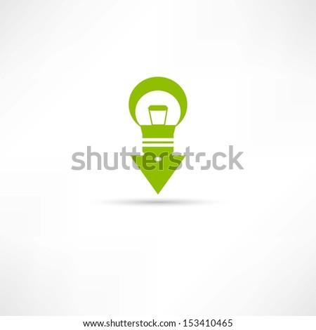 Bulbs icon - stock vector