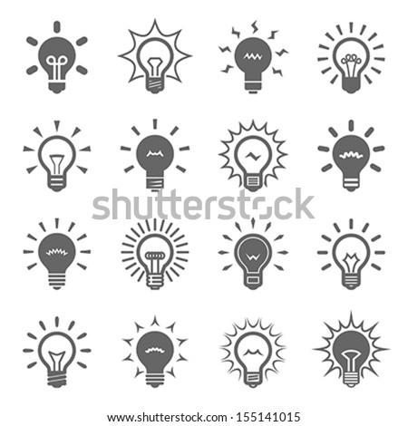 Bulbs set - stock vector