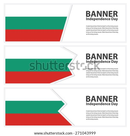bulgaria  Flag banners collection independence day - stock vector