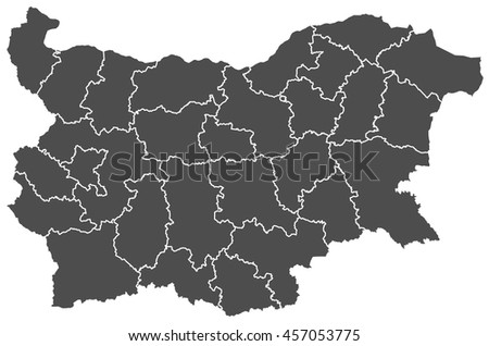 bulgaria map - stock vector