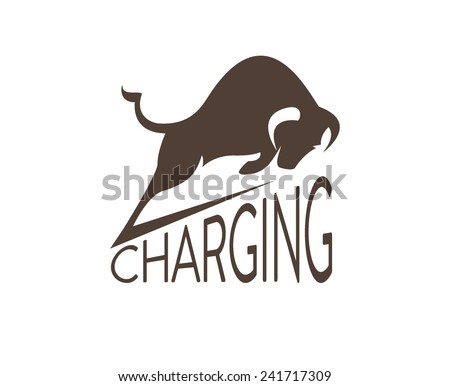 Bull, cow - stock vector