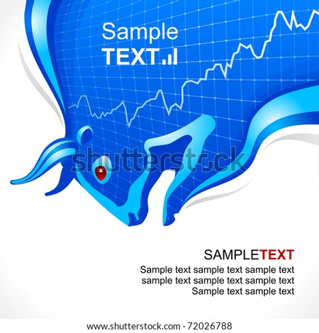 Bull frame. Business and finance symbol - stock vector