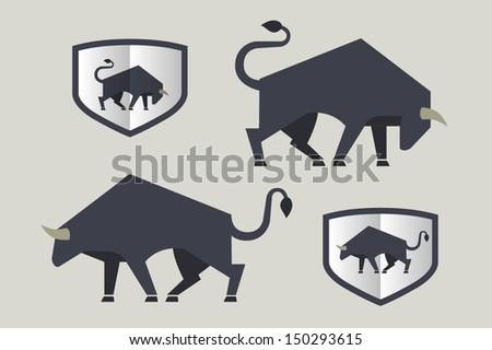 Bull icon - stock vector