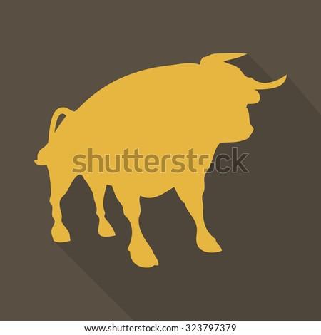 bull image - stock vector