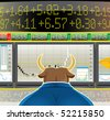bull market (vector, CMYK) - stock photo