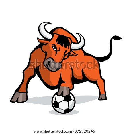 Bull vector logotype - stock vector