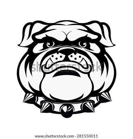 Bulldog head.-vector illustration - stock vector
