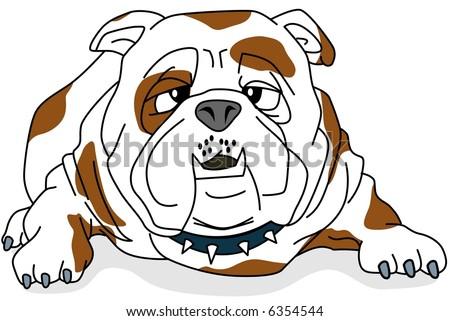 Bulldog-vector - stock vector