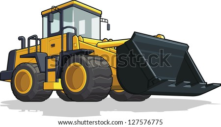 Bulldozer - stock vector