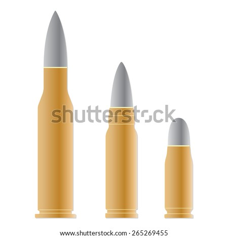 Bullet set isolated on white background. Vector illustration of different bullets. - stock vector