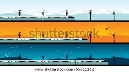 bullet train - stock vector