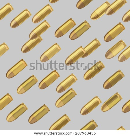 bullets bombardment on gray background seamless pattern  - stock vector