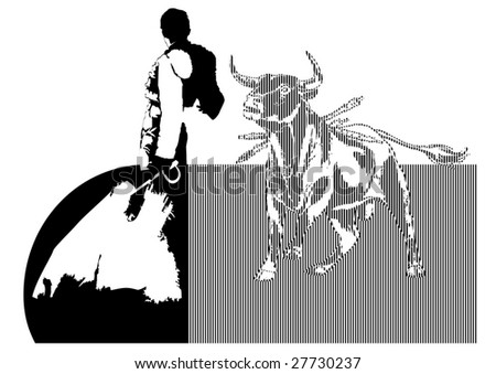 bullfighter - stock vector