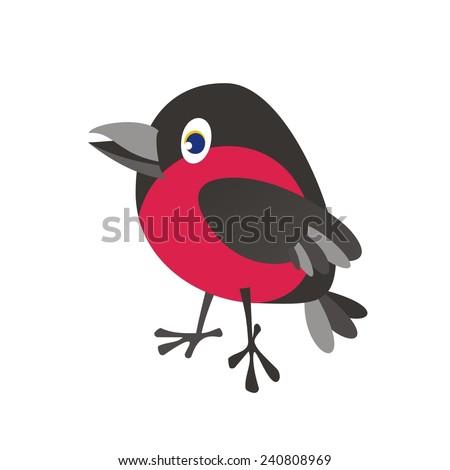 Bullfinch. White backgrounds. Vector illustration.   - stock vector