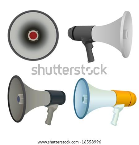 bullhorn vector - stock vector
