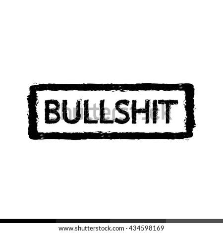 Bullshit stamp Illustration design - stock vector