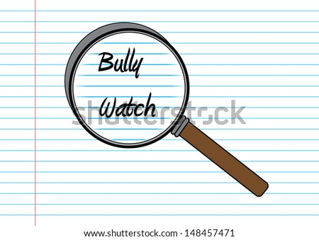 Bully Watch Concept. Vector - stock vector
