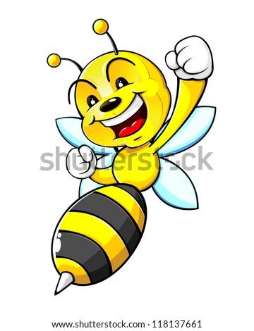 Bumblebee Mascot - stock vector