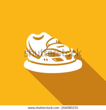 Bumper car icon, vector illustration - stock vector