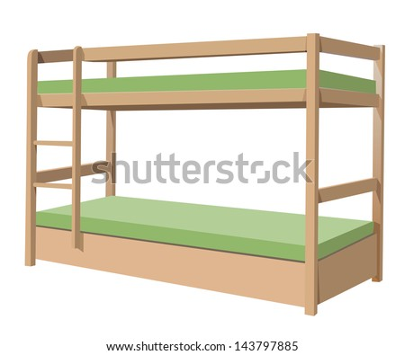 Bunk bed - stock vector