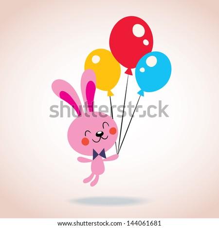 bunny character - stock vector