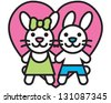 Bunny Love - stock vector