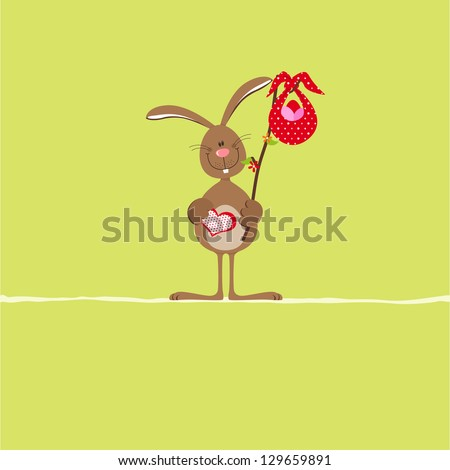 Bunny with red bag