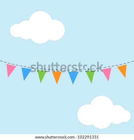 Bunting flags - stock vector