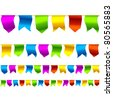 Bunting flags. Seamless vector. - stock vector