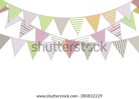 Bunting Flags, Vector Illustration - stock vector