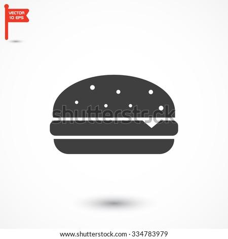 Burger icon Vector icon 10 EPS - stock vector