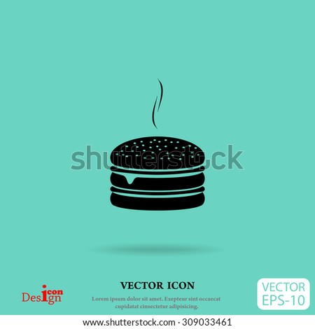 burger vector icon - stock vector