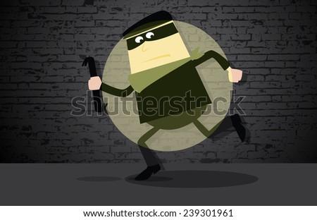 Burglar 2 - stock vector
