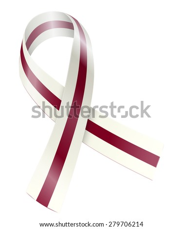 Burgundy Ivory Ribbon Head Neck Cancer Stock Vector 279706214