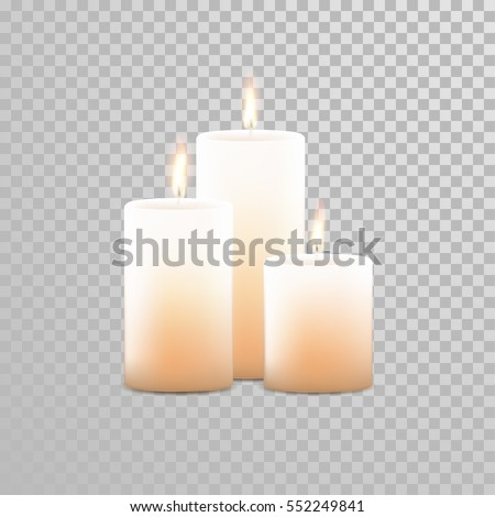 Spa candles stock images royalty free images vectors shutterstock burning candles set aromatic decorative round cylindrical candle sticks with burning flames on transparent background sciox Images