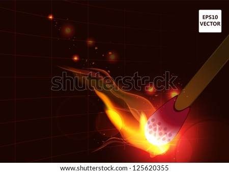 burning wooden match