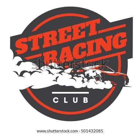 Illegal street racing logo