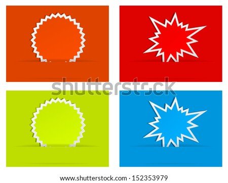 burst star paper abstract background - stock vector